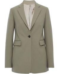 JOSEPH Twill Blazer Grey Green - Multicolour