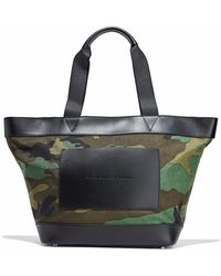 Alexander Wang - Leather-paneled Printed Canvas Tote Army Green - Lyst