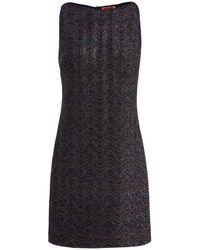 Missoni Metallic Knitted Mini Dress - Black