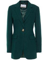 REMAIN Birger Christensen Tyron Brushed Wool-blend Felt Blazer - Green