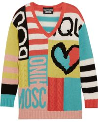 Boutique Moschino - Intarsia Cotton Sweater - Lyst