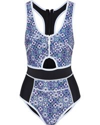 Duskii Cutout Scuba Swimsuit - Blau