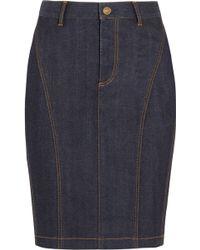 Burberry Brit - Stretch-denim Pencil Skirt - Lyst