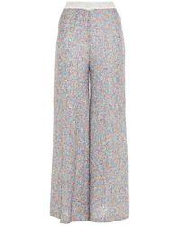 Missoni Sequined Crochet-knit Wide-leg Pants - Multicolor