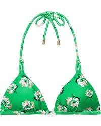 ViX - Petals Twine Knotted Floral-print Triangle Bikini Top - Lyst