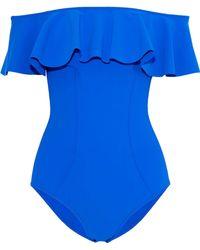 Lisa Marie Fernandez - Mira Off-the-shoulder Ruffled Bonded Swimsuit - Lyst