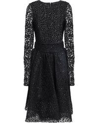 Maje Sequin-embellished Lace Dress Black