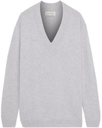Zimmermann - Mélange Cashmere Sweater Light Gray - Lyst