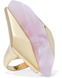 Noir Jewelry - Light Beam 14-karat Gold-plated Resin Ring - Lyst