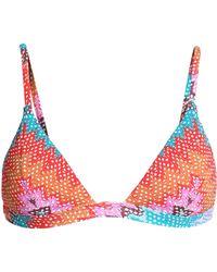 Heidi Klum - Printed Triangle Bikini Top - Lyst