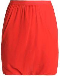Rick Owens - Silk-georgette Shorts - Lyst