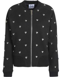 20d45f8d5395 Lyst - Zoe Karssen  Cry Baby  Bomber Jacket in Black