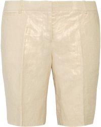 J.Crew Bocono Metallic Linen Shorts - Multicolor