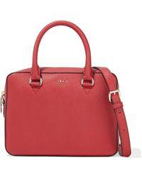 DKNY Sutton Textured-leather Shoulder Bag Red