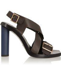 Calvin Klein - Gavin Leather Sandals - Lyst