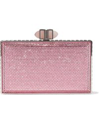 Judith Leiber Crystal-embellished Box Clutch Pink