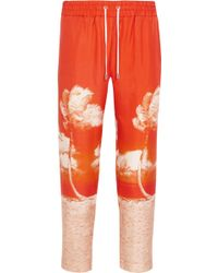 Orlebar Brown - Allyce Printed Silk Straight-leg Trousers - Lyst