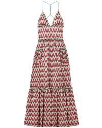 Missoni Tiered Metallic Crochet-knit Halterneck Maxi Dress Multicolor