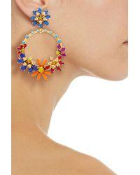 Elizabeth Cole 24-karat Gold-plated Swarovski Crystal Earrings - Metallic