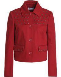 RED Valentino - Eyelet-embellished Cotton-blend Jacket - Lyst