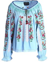 Needle & Thread - Embroidered Crepe Blouse - Lyst