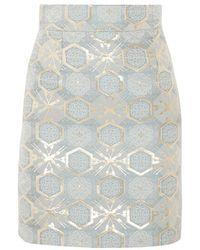 Teatum Jones | - Ivy Jacquard Mini Skirt - Sky Blue | Lyst