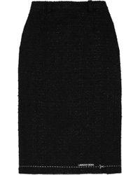 Vetements - Metallic Bouclé-tweed Skirt - Lyst