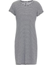 Rag & Bone Striped Pima Cotton-jersey Mini Dress - Black