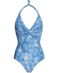 Melissa Odabash - Zanzibar Halterneck Swimsuit - Lyst