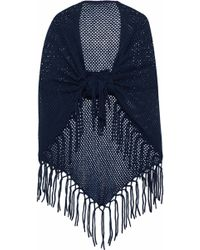 Autumn Cashmere - Fringe-trimmed Open-knit Cashmere Wrap - Lyst