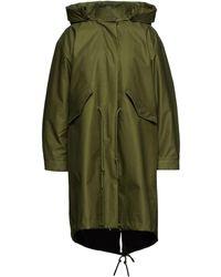Tory Burch Oversized Cotton-blend Gabardine Hooded Parka - Green