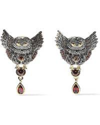 Noir Jewelry - Wise Wings 14-karat Gold-plated Crystal Earrings Gold - Lyst