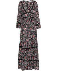 Ba&sh Heren Floral-print Voile Maxi Dress Black