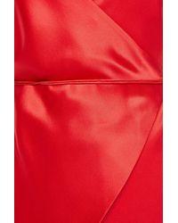 Michelle Mason Open-back Devoré-velvet Mini Wrap Dress - Red