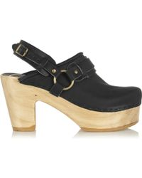 No.6 - Whiskey Leather Platform Clogs - Lyst