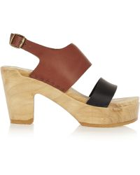 No.6 - Two-tone Leather Sandals - Lyst