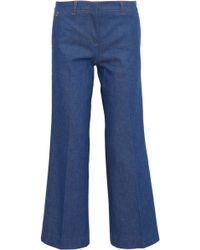 Emilio Pucci - Mid-rise Wide-leg Jeans Mid Denim - Lyst