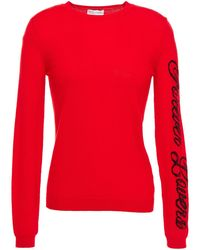 RED Valentino Jacquard-knit Wool Sweater Red