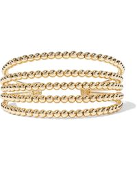 Noir Jewelry 14-karat Gold-plated Cuff Gold - Metallic