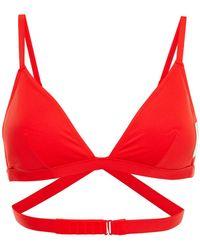Calvin Klein Triangle Bikini Top - Red