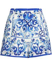 Dolce & Gabbana - Printed Cotton-blend Jacquard Shorts - Lyst