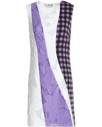 Diane von Furstenberg - Gingham Silk-blend And Fil Coupé Voile Mini Dress - Lyst
