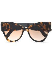 Marc Jacobs - Cat-eye Tortoiseshell Acetate Sunglasses - Lyst
