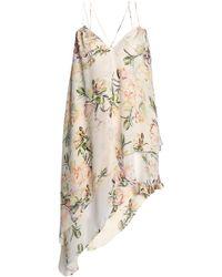 Haute Hippie - Asymmetric Floral-print Silk Crepe De Chine Top - Lyst