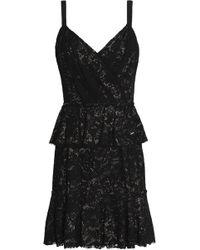 Dolce & Gabbana - Lace Peplum Mini Dress - Lyst