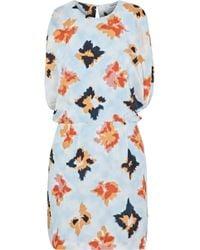 Opening Ceremony - Open-back Draped Floral-print Silk Mini Dress - Lyst