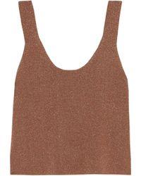 Tibi - Metallic Stretch-knit Tank - Lyst
