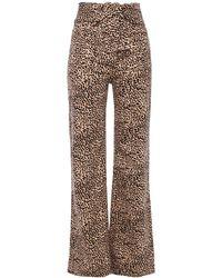Ulla Johnson Wade Tie-front Leopard-print Wide-leg Jeans Animal Print - Multicolour