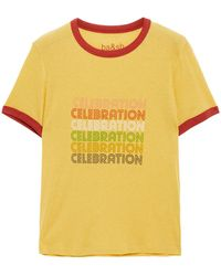 Ba&sh Tenley Printed Lyocell And Cotton-blend Jersey T-shirt - Multicolour