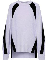 Amanda Wakeley Oversized Two-tone Cashmere Sweater Lilac - Purple